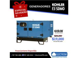 Trujillo Alto Puerto Rico Plantas Electricas, GENERADOR KOHLER/SDMO-DIESEL-SILENCIOSA-60KW!