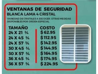 VENTANAS DE SEGURIDAD L4 CRISTAL, Homesolution Corp. Puerto Rico