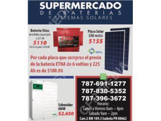 Schneider 6848, Supermercado de Baterias y Sistemas Solares Puerto Rico
