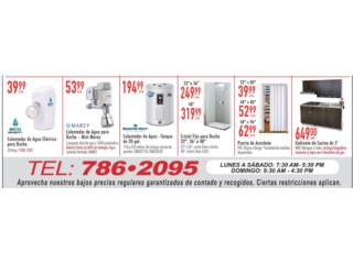 Calentador de agua para ducha, Ferreteria Ace Berrios Puerto Rico