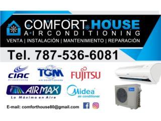 Airmax 12,000btu Inverter Fabricado por Gree, Comfort House Air Conditioning Puerto Rico