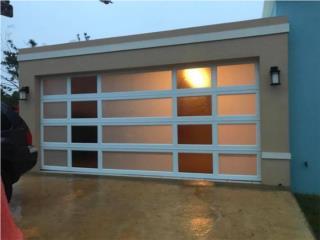 Puerta de garage en cristal de seguridad, DEL AHORRO ROOFING  Puerto Rico