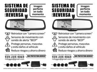 Camara y sensores para el carro., ECONO/CRISIS SOLUTIONS Puerto Rico