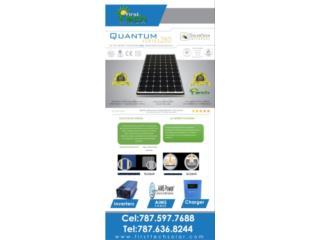 Paneles micro Hilo  285 WATTS  EL MEJOR, FIRST TECH SOLAR Puerto Rico