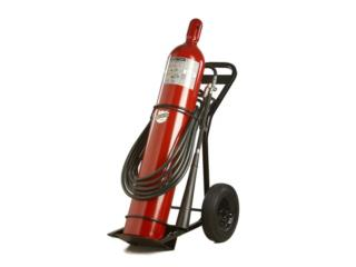 WHEELED CARBON DIOXIDE EXTINGUISHER 100LB, CEL Fire Extinguishers & More Puerto Rico