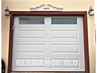 VARIEDAD EN PUERTAS INSULADAS 2018 , Elegance Garage Door's y Mas. Puerto Rico