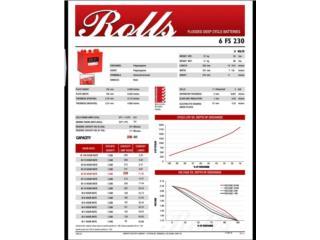 BATERIAS (ROLLS) 230amp 6v, AUTORIDAD DE ENERGIA SOLAR Puerto Rico