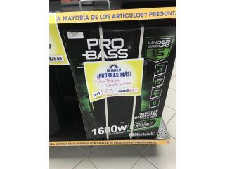 Bocina de 1600 w Pro Bass, La Familia Casa de Empeño y Joyería-Humacao Puerto Rico