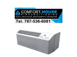 Wall Pack 12,000btu Midea no inverter, Comfort House Air Conditioning Puerto Rico