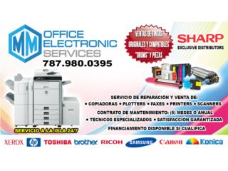 VENTA DE COPIADORAS, PLOTTERS, PRINTERS ETC., MM OFFICE ELECTRONIC SERVICES Puerto Rico