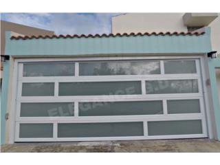PUERTAS DE GARAJE MODERNA EN ALUMINIO, Elegance Garage Door's y Mas. Puerto Rico