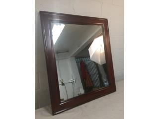 Espejo Grande de Madera, Mr. Bond Vintage Puerto Rico