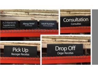 Letreros para Farmacia, Gondolas PR Puerto Rico