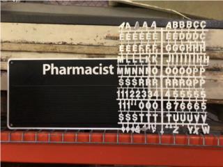 Rotulo ranurado con letras - Para Farmacia, Gondolas PR Puerto Rico
