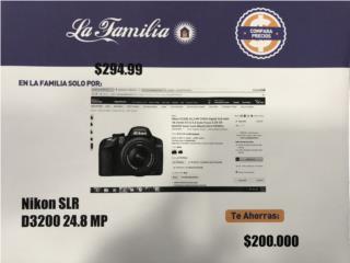 CAMARA NIKON D3200 24.8MP, La Familia Casa de Empeño y Joyería-Bayamón 2 Puerto Rico