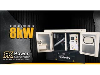 Kubota 8kW, RK Power Generator Corp. Puerto Rico