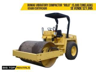 VIBRATORY COMPACTOR / ROLO, Big Top Rentals- Construction Puerto Rico