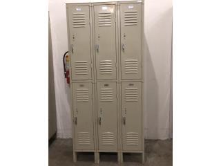 Lockers (casilleros) con portacandados , Gondolas PR Puerto Rico