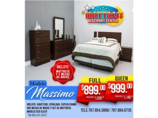 J. Cuarto con Mattress y 2 mesas de noche, Mattress Discount Center Puerto Rico