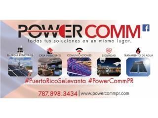 Plantas Eléctricas Solar - Baterías, PowerComm, Inc 7878983434 Puerto Rico