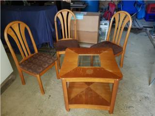 4 sillas una mesa de centro, ECONO/CRISIS SOLUTIONS Puerto Rico