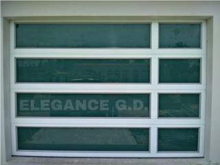 PUERTAS DE GARAJE MODERNAS Y SEGURAS ALUMINIO, Elegance Garage Door's y Mas. Puerto Rico
