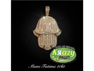 Pendant Mano De Fatima 10kt, Krazy Pawn Corp Puerto Rico
