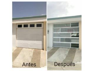 Puerta Aluminio Cristal y Perforada, EURO GARAGE DOORS Puerto Rico