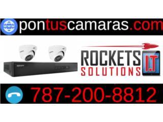 Sistema de 2 Camaras de Seguridad, Rockets I.T Solutions Puerto Rico