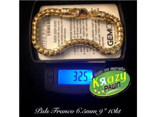 "Pulseras Franco 6.5mm  9"" 10kt, Krazy Pawn Corp Puerto Rico"