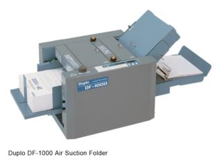 DUPLO DF-1000 Air Suction Folder, IMPRENTAS PR Puerto Rico