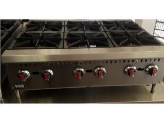 ESTUFA HOTPLATE DE 4 Y 6 HORNILLAS!, Professional Kitchen Equipment Puerto Rico