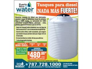 Tanque Diesel 200 galones , Puerto Rico Water Puerto Rico