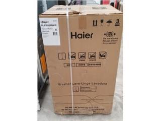 Lavadora portátil Haier con DAMAGE $199.00, COLON DISTRIBUTORS PR, INC. Puerto Rico