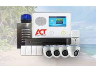 2CAMARAS FULL HD CON SISTEMA DE ALARMA, ACT Security Systems Puerto Rico