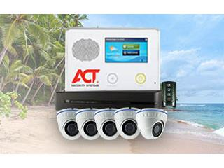ALARMA CON 10 IMPACTOS+ 6 CAMARAS HD+0 ACT, ACT Security Systems Puerto Rico