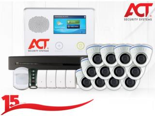ESCOGE ENTRE 2,4,8,12 Y 16 CAMARAS CON ALARMA, ACT Security Systems Puerto Rico