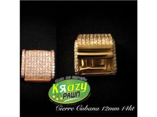 Cierre con Diamantes para Cubana Miami 12mm , Krazy Pawn Corp Puerto Rico