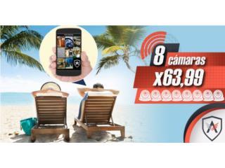 8 cámaras de marca con alarma de ADT, Home Media Tech Dealer Autorizado ADT Puerto Rico