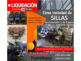 LIQUIDACION MOBILIARIO OFICINA Y SILLAS, AMBITEK FURNITURE Puerto Rico