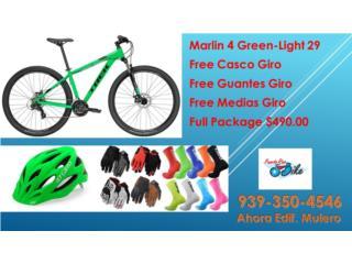 Marlin 4 Green y casco, guantes,medias, PUERTO RICO BIKE Puerto Rico