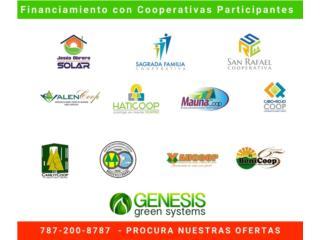 GENERADOR SOLAR - FINANCIA CON LA COOPERATIVA, GENESIS GREEN SYSTEMS Puerto Rico