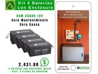 ÚLTIMA HORA: KIT BATERÍA CON GABINETE $2,431, GENESIS GREEN SYSTEMS Puerto Rico