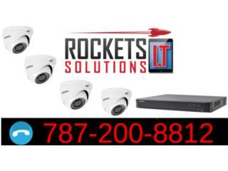 4 Camaras de seguridad HD, Rockets I.T Solutions Puerto Rico