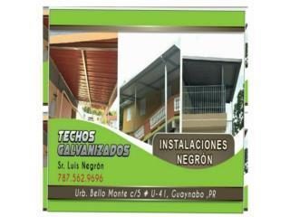 Techos Galvalume, Instalaciones Negron Puerto Rico