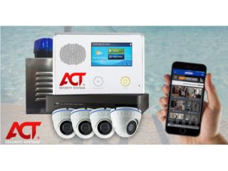 8cAMARAS+ALARMA CON SIRENA Y SIN PRONTO, ACT Security Systems Puerto Rico