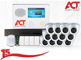 8CAMARAS+ALARMA+Sirtena, ACT Security Systems Puerto Rico
