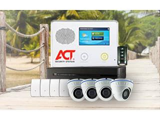 6CAMARAS+ALARMA TOUCH SIN PRONTO, ACT Security Systems Puerto Rico