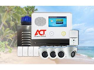 5CAMARAS+SENSOR DE IMAGEN +ALARMA CON 0 ACT, ACT Security Systems Puerto Rico