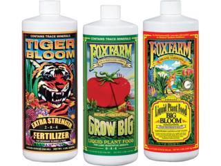FOX FARM  GROW BIG / TIGER BLOOM / BIG BLOOM, Hydro Shop PR Puerto Rico